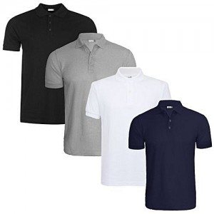 Fashion Polo Shirt With Buttons And Collar- Four (4 Shirts)