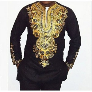AFankara Men's Senator Attire Kaftan - Black