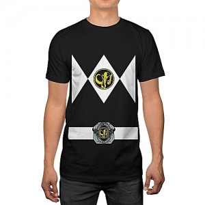 Generic Power Rangers Uniform Mens Costume T-shirt Summer Printed Casual T Shirts