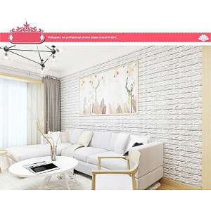 Generic 3D Brick Wall Sticker Self-Adhesive Foam Wallpaper Panels Room Decal