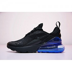 Nike 2018 Unisex Air Max 270 Running Sneakers Black Blue AH8050-009 EU36-44