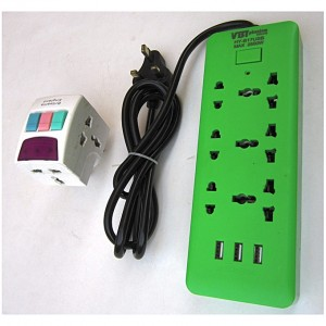 Generic 3 Way Surge Protector Extension Box With USB Port + 13 AMP Multi Switch Socket