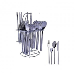Generic Stainless Table Spoons, Knives And Forks - 24Pcs Dining Cutlery Set